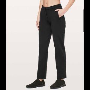 "Lululemon On The Move Pant 28"" Black size 8"